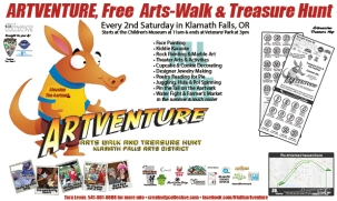 Posters for interactive art excursion, Artventure, Klamath Falls, OR. (2011)